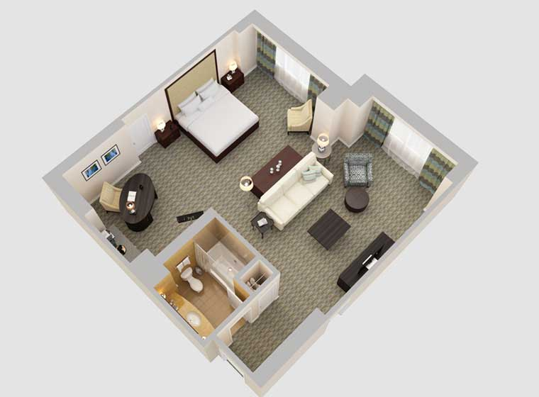 3D floor plan of room